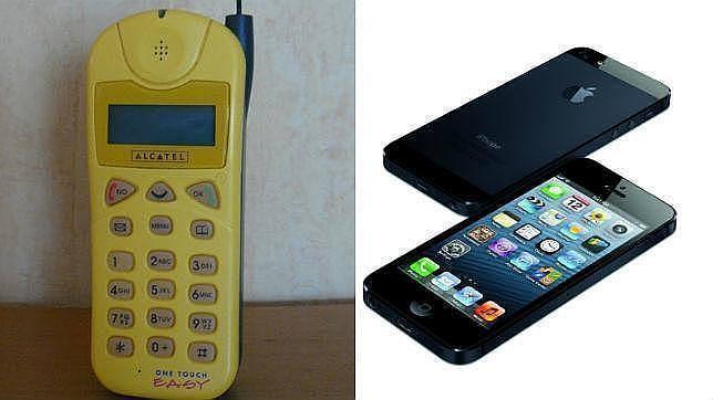 Desde el primer ladrillo al iphone 6 as han cambiado los m viles - Telefono registro bienes muebles madrid ...