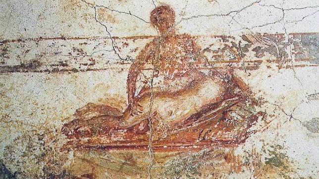 Una de las escenas eróticas de las Termas suburbanas de Pompeya