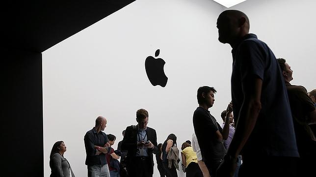 Visitantes en la keynote de Apple