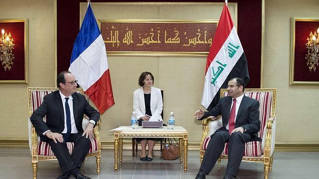 Hollande viaja a Irak para reafirmar su apoyo en la guerra contra los yihadistas del EI