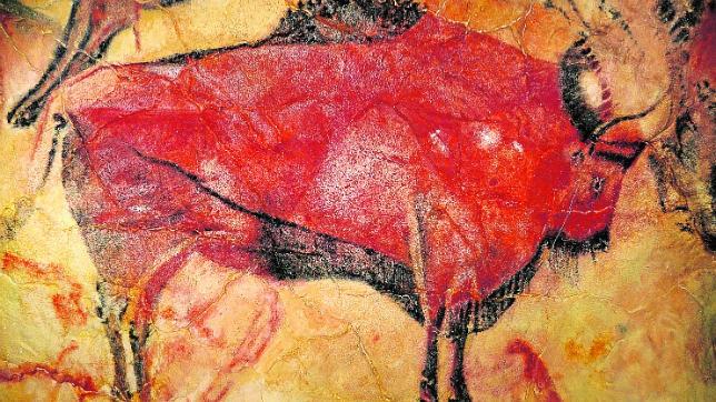 Vista de uno de los bisontes de la Sala de Polícromos