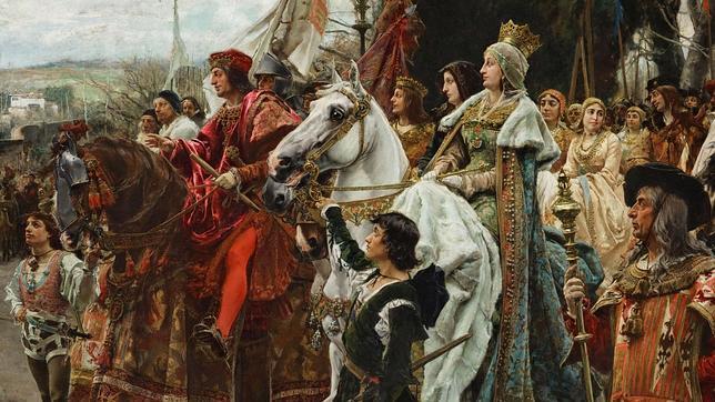 Cuadro de la rendición de Granada