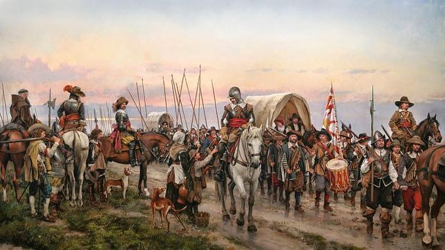 «El Camino Español», cuadro del pintor catalán Augusto Ferrer-Dalmau