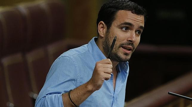 Alberto Garzón, la pasada semana en el Congreso