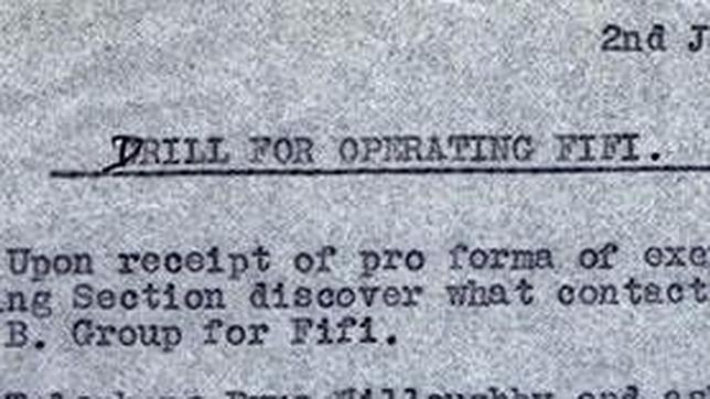 Documento que relata la historia de «Fifi»