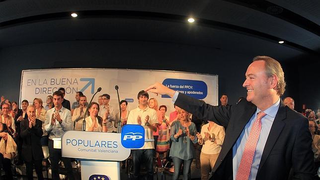 Imagen de archivo de Alberto Fabra durante la campaña del PP a las elecciones europeas celebradas este año