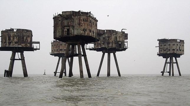 Una imagen de los Maunsell Sea Forts