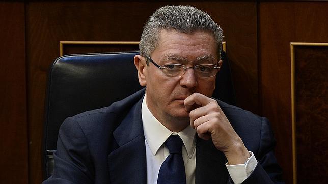 Alberto Ruiz-Gallardón, en el Congreso