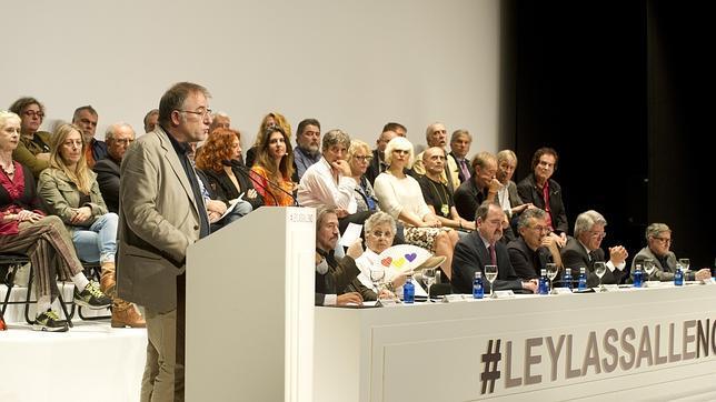 José Luis Acosta, presidente de la SGAE, durante su intervención en el Círculo de Bellas Artes