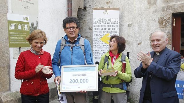 Un francés jubilado de la banca, peregrino 200.000 en el Camino en este 2014
