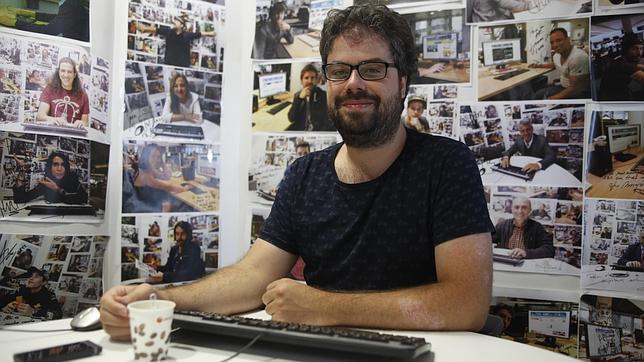 Sergio del Molino en un momento de la entrevista digital en ABC.es
