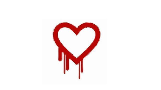 El logo del Heartbleed, el fallo descubierto en abril