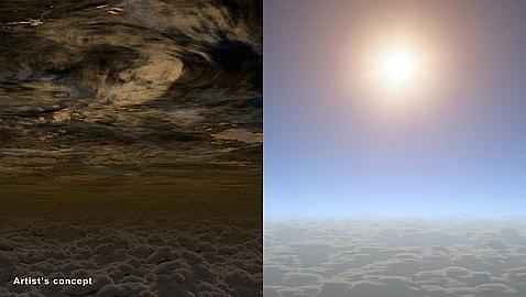 Hallan vapor de agua en un pequeño planeta fuera del Sistema Solar