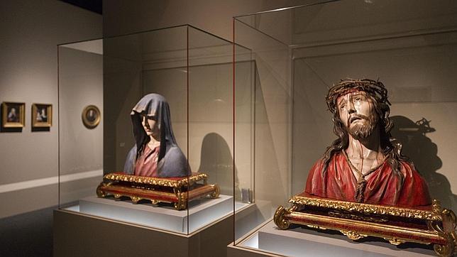 Dos esculturas de José de Mora, que Anna Gamazo heredó de su familia