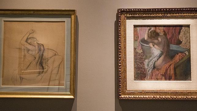 Un pastel de Degas junto a su estudio preparatorio