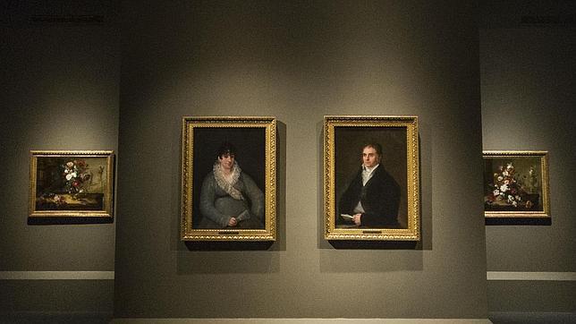 En primer plano, los consuegros de Goya retratados por el pintor
