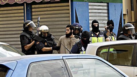 Momento de la detención del cabecilla, en Melilla