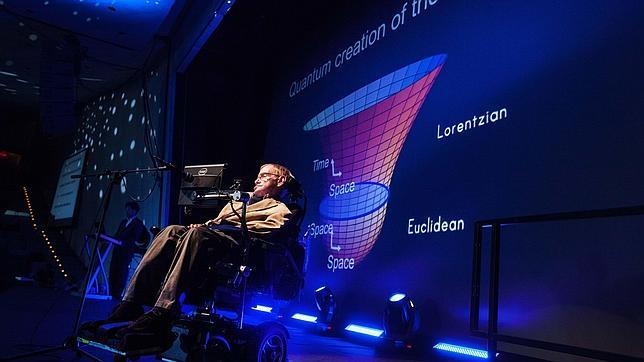 El físico Stephen Hawking en el Festival Starmus celebrado en Tenerife