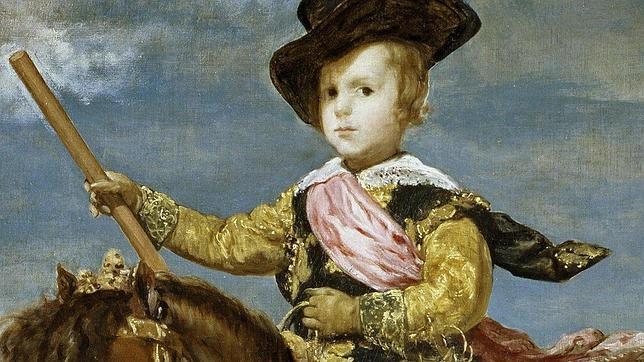 Detalle del «Príncipe Baltasar Carlos a caballo», pintado por Velázquez