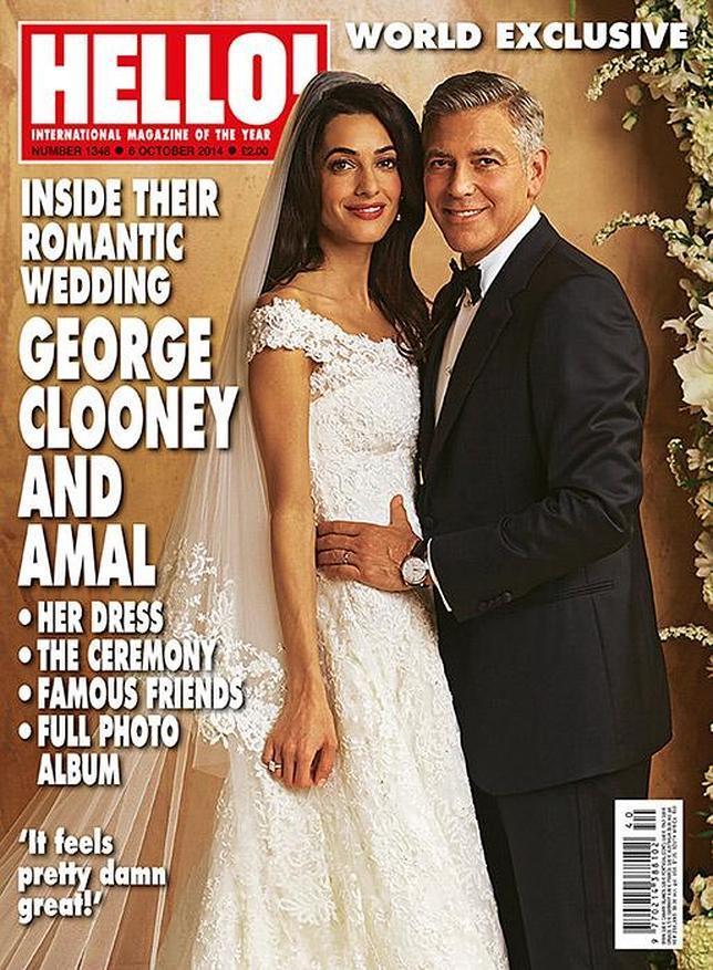 la foto más esperada de la boda de clooney y alamuddin: el vestido