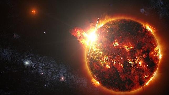Detectan una «superllamarada» 100.000 veces más intensa que las del Sol