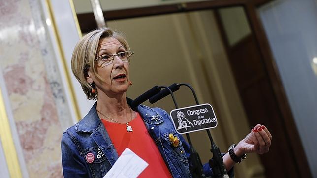 Rosa Díez es diputada en el Congreso