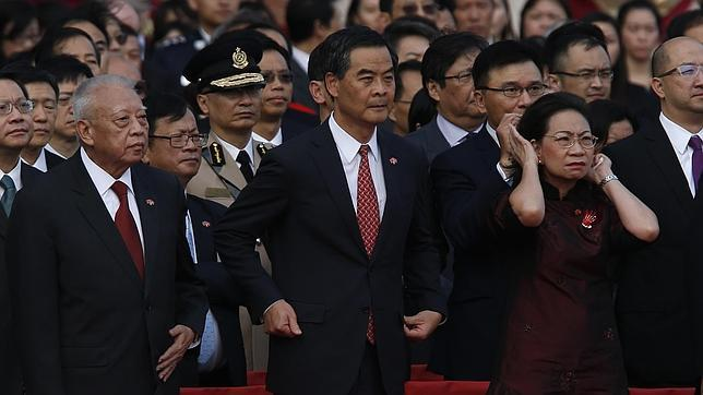 La revolución de los paraguas de Hong Kong amarga la fiesta del día nacional de China