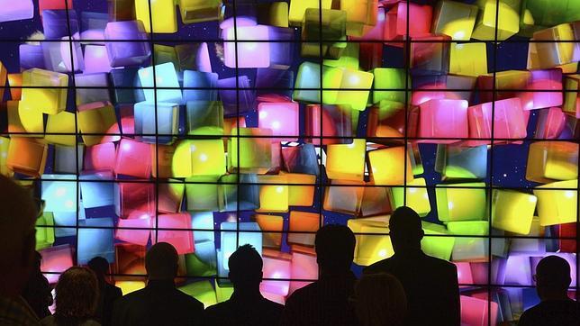 Una pared repleta de televisores LG en la IFA