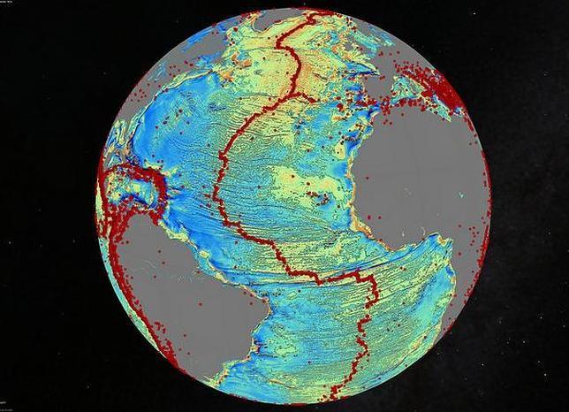 Nuevo mapa de los fondos marinos