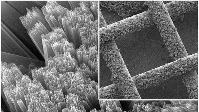 Detalle microscópico de la batería
