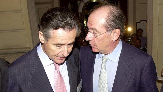Rato y Blesa conversan cuando el priemero era el vicepresidente del Gobierno y el otro el presidente de Caja madrid