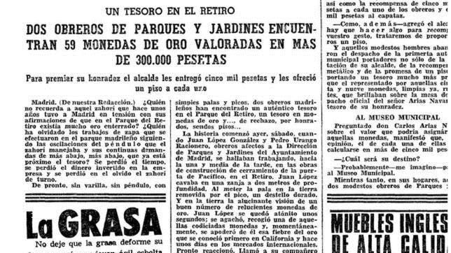 El misterioso tesoro del Retiro que tuvo en jaque a Madrid durante una década