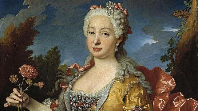 El retrato de la infanta portuguesa Bárbara de Braganza y la consorte de Fernando VI