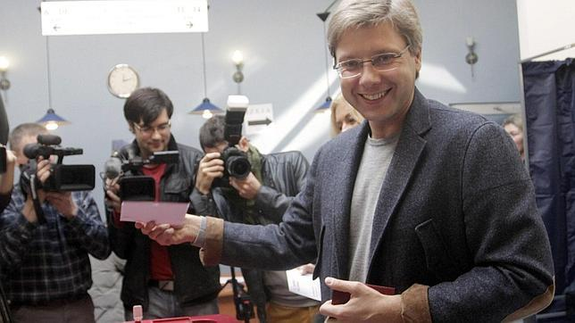 Nils Usakovs, candidato del partido Armonía