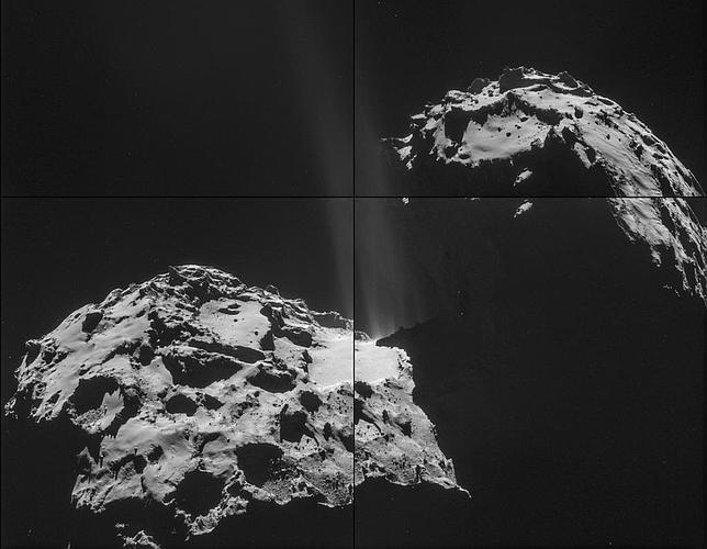 La nave Rosetta observa por primera vez la emisión de gases de un cometa