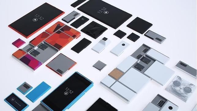En la imagen, los teléfonos modulares de Project Ara