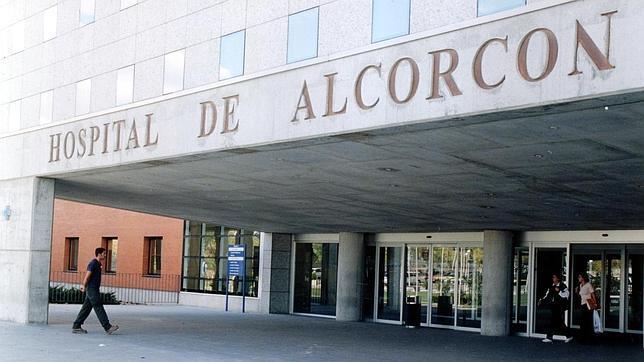Entrada al hospital de Alcorcón