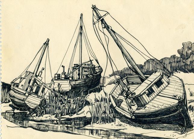 «Barco cerca de Rock Harbor, Cape Cod»
