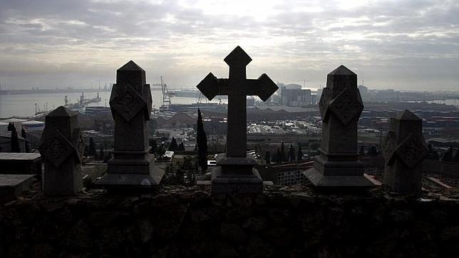 Vistas desde el cementerio de Montjuic, en Barcelona