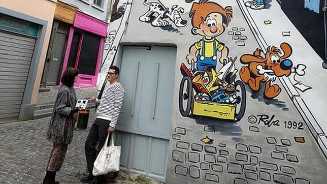 Los dibujos de Roba, en las calles de Bruselas