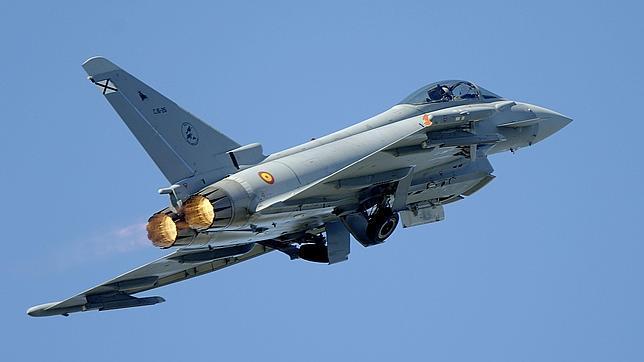 Un caza Eurofighter