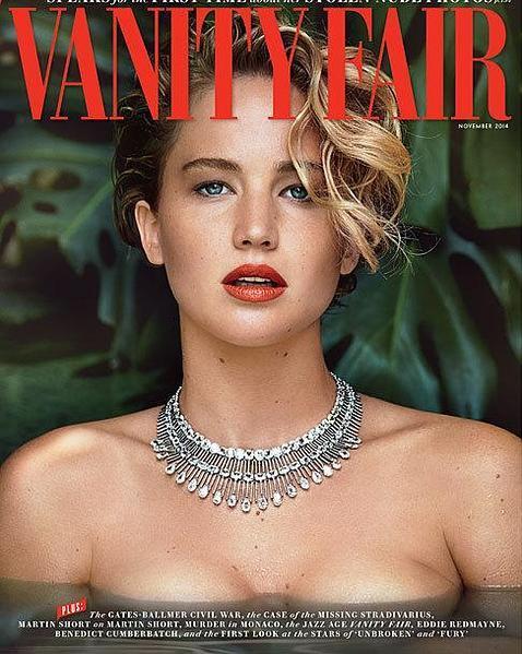 Jennifer Lawrence, portada de «Vanity Fair» del mes de noviembre