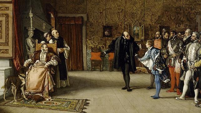 Presentación de don Juan de Austria al emperador Carlos V, en Yuste