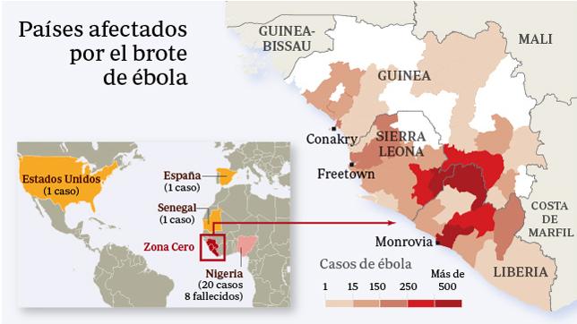La epidemia continúa avanzando en Guinea Conakry, Sierra Leona y Liberia