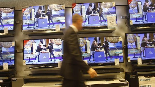 Los televisores con el sorteo de la Loteria de Navidad