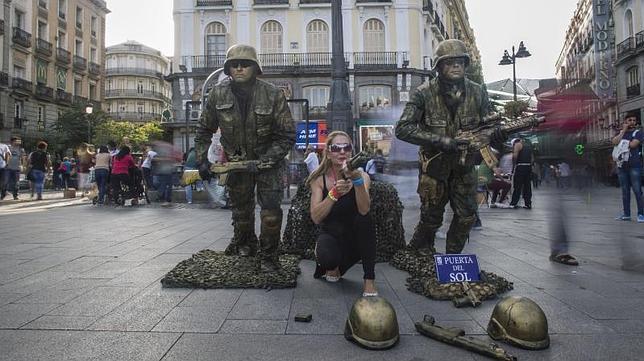 Las mejores estatuas humanas de Madrid