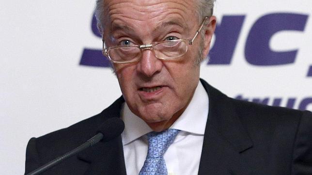 El presidente de ADIF, Gonzalo Ferre, durante su intervención ayer