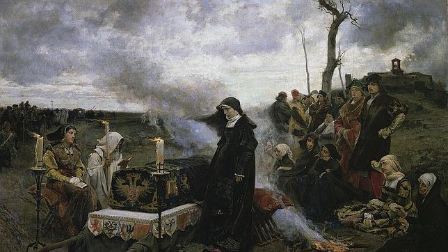 Juana «la Loca» velando el cadáver de Felipe «el Hermoso»