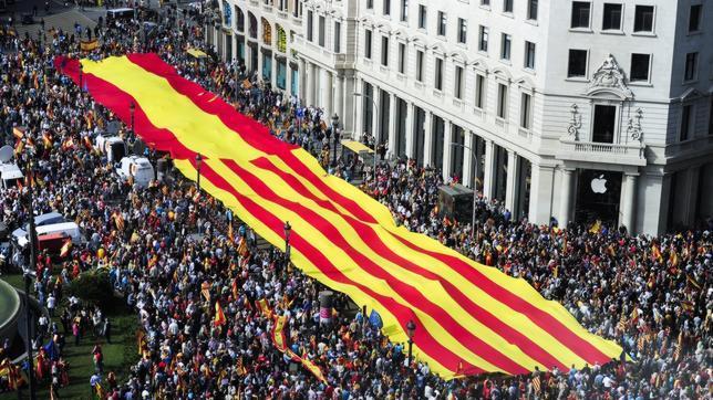 Imagen de la plaza Cataluña el 12 de octubre de 2013