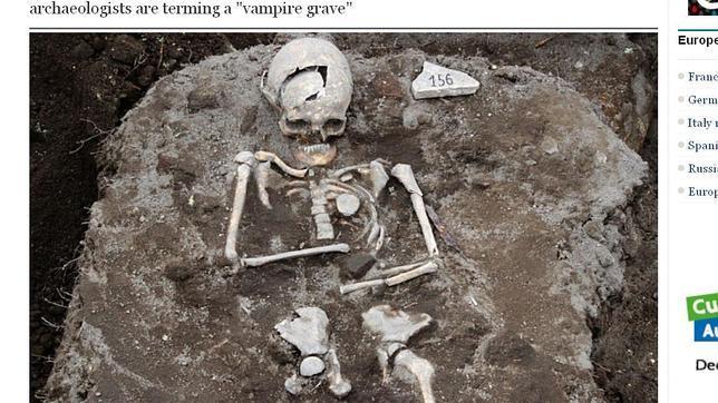 Los restos hallados del hombre acusado de vampirismo
